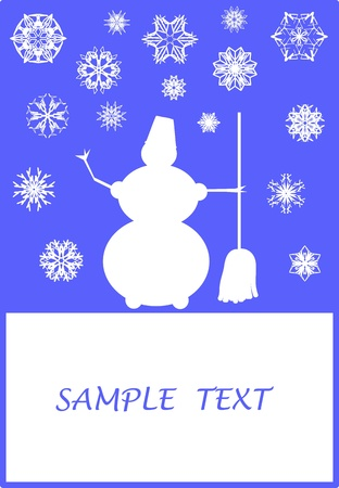 Surreal Christmas design with snowman and snowflakes Stock Vector - 12497868