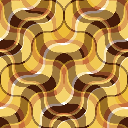 Seamless abstract plaid background with brown and yellow waves Stock Vector - 12817196
