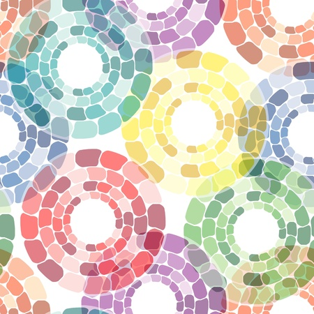 Seamless pattern with multicolor circle tiles on white Stock Vector - 12817205