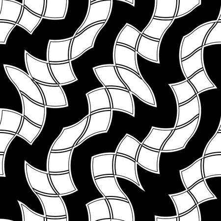 Seamless black and white abstract tile pattern Vector