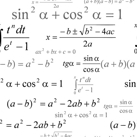 Seamlessly wallpaper with mathematical formulas on white Stock Vector - 15069501