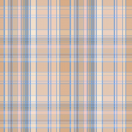 scot: Seamless plaid material pattern with blue lines on brown Illustration