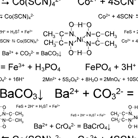 medical student: Seamless wallpaper with chemical formulas on white