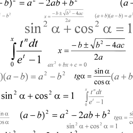 Seamlessly wallpaper with mathematical formulas on white Stock Vector - 20697140