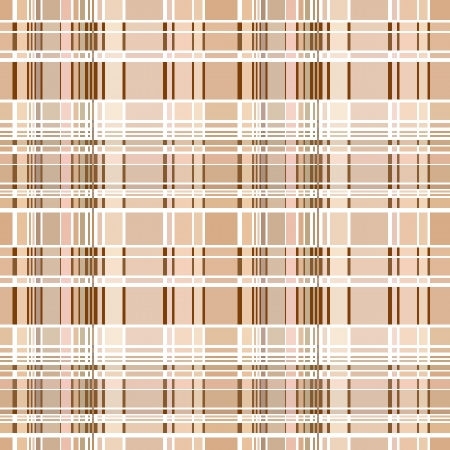 madras: Seamless plaid material pattern with brown lines Illustration