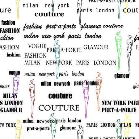 ton: Beyaz sorunsuz desen olarak moda et