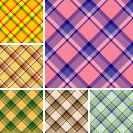 scot: Collection of seamless plaid patterns