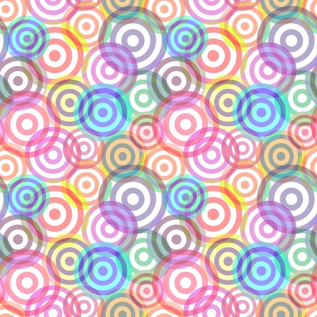 Retro seamless background with multicolor vivid rings Stock Vector - 21533548