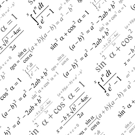 Seamlessly wallpaper with mathematical formulas on white Stock Vector - 21533579