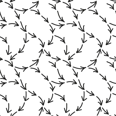 seamlessly: Seamless wallpaper with arrow signs on white