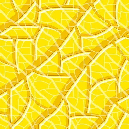 Seamless vector texture with gold yellow tiles Vector