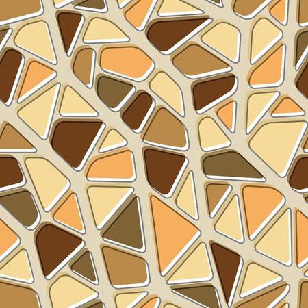 Seamless vector texture with brown yellow tiles Vector