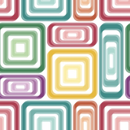 swirls vector: Seamless vivid tile pattern with multicolor elements Stock Photo