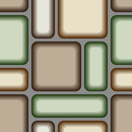 Seamless vector texture with brown green tiles photo