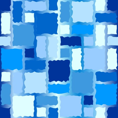rugged: Seamless texture pattern with blue rugged tiles Illustration
