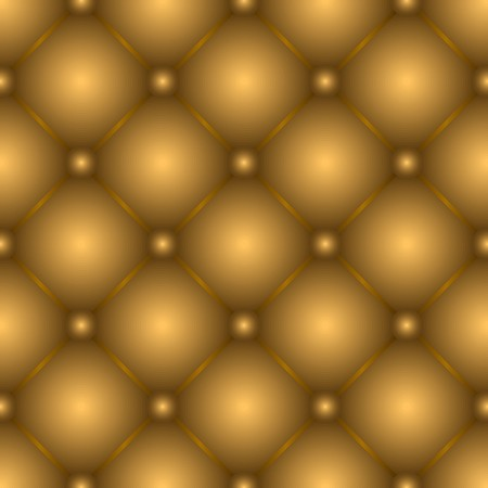 Golden brown tufted leather seamless texture pattern Vector