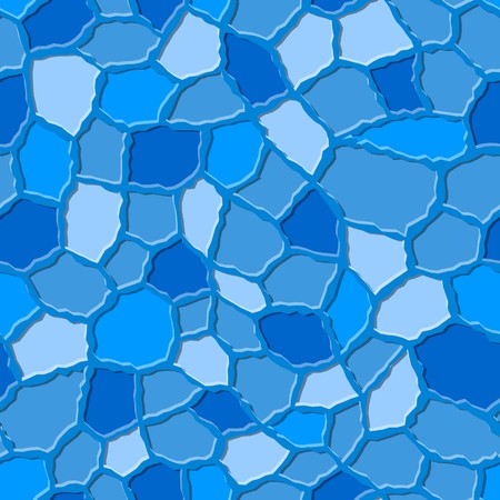 roughness: Seamless texture pattern with blue rugged tiles Illustration