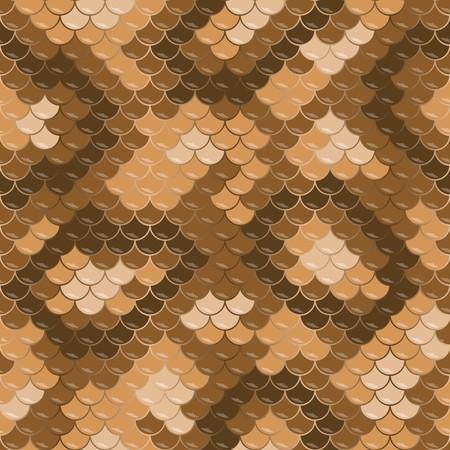 Gold lizard skin. Seamless squama texture pattern Illustration
