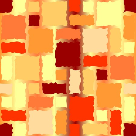 Seamless texture pattern with hot color rugged tiles Vector