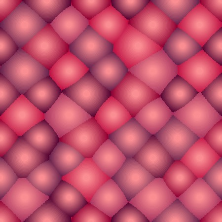 Seamless background with red bubbles. Stylized atom structure Vector