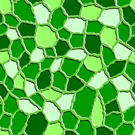 roughness: Seamless texture pattern with green rugged tiles Illustration