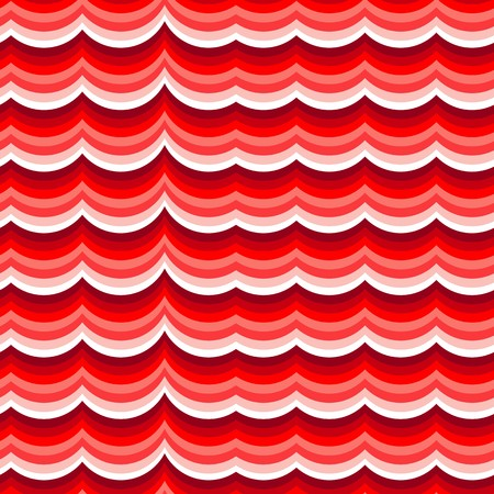 red wave: Red wave background. Seamless pattern on white Illustration