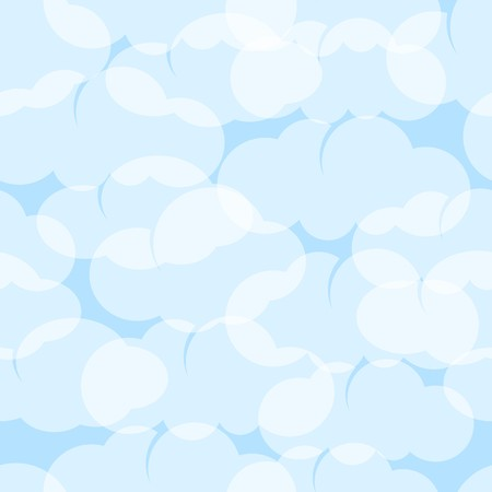 seamless sky: Seamless sky background with stylish light blue round clouds