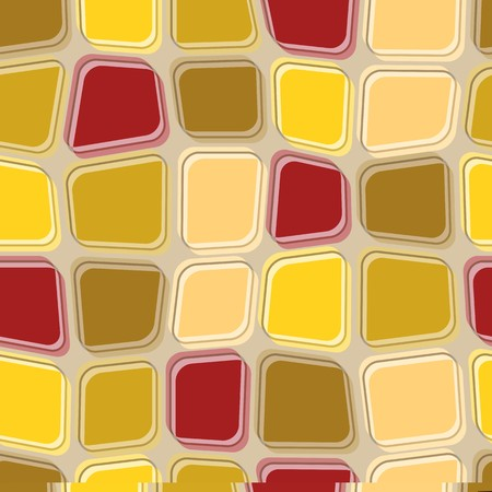 Seamless texture pattern with brown yellow rugged tiles Vector