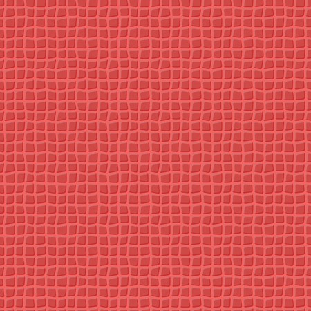 reptile skin: Red seamless vector leather texture background pattern