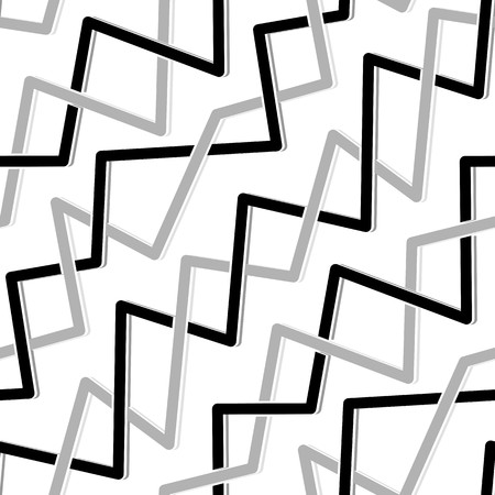 Seamless abstract pattern with black and grey lines on white Vector
