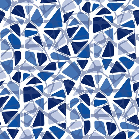 rounded: Seamless vector texture with blue rounded tiles Illustration
