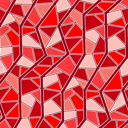 garnet: Seamless vector texture with red garnet tiles Illustration