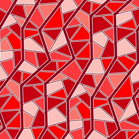 garnet: Seamless vector texture with red garnet tiles Illustration