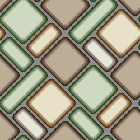 Seamless vector texture with brown green tiles Vector