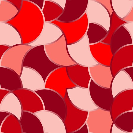 roughness: Seamless texture pattern with red round tiles