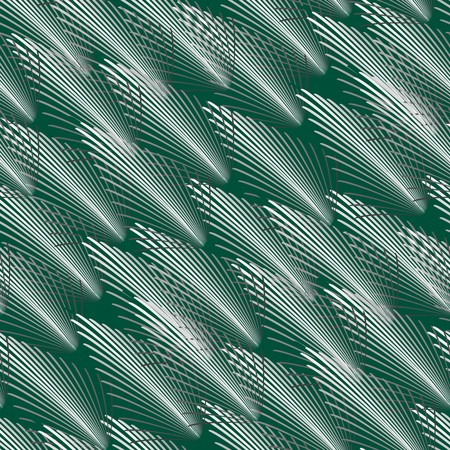 sward: Seamless wallpaper con stilizzato erba bianco su verde