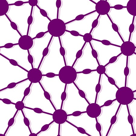 nifty: Modern stylish pattern of mesh. Repeating abstract background with connected circles