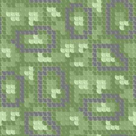 squama: Green dragon skin. Seamless squama texture pattern