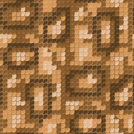 squama: Gold lizard skin. Seamless squama texture pattern Illustration