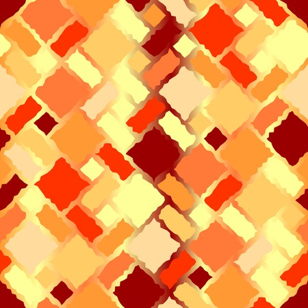 roughness: Seamless texture pattern with hot color rugged tiles