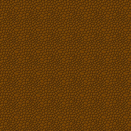 reptile skin: Brown seamless vector leather texture background pattern Illustration