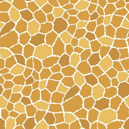 roughness: Seamless texture pattern with brown yellow rugged tiles Illustration