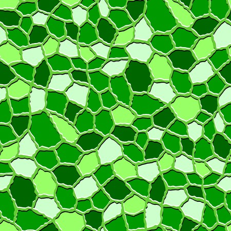 rugged: Seamless texture pattern with green rugged tiles Illustration