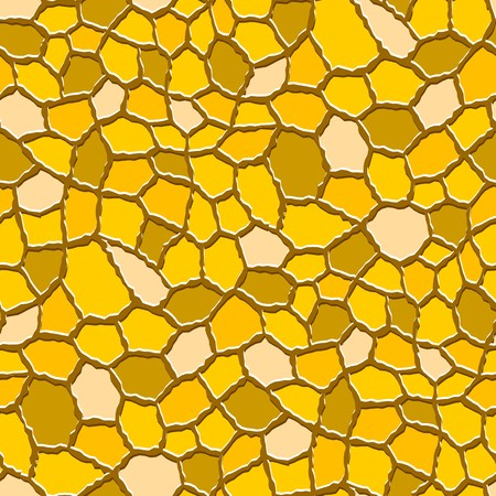 rugged: Seamless texture pattern with yellow rugged tiles Illustration