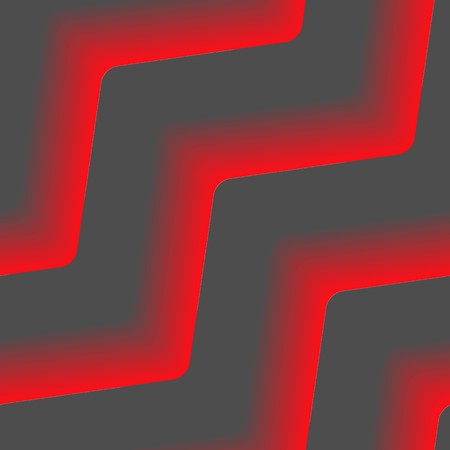 Seamless abstract pattern with fire red lines on black Vector
