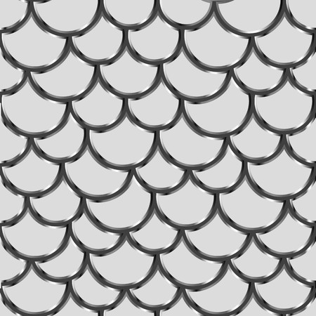 squama: Seamless background wallpaper. Pattern of semicircles in squama style