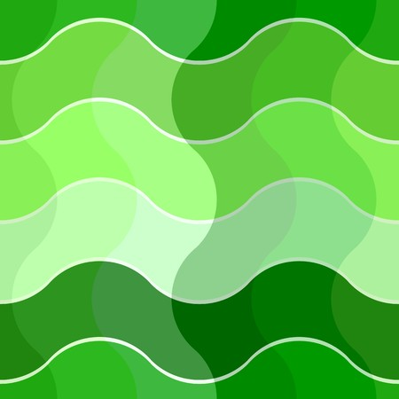 madras: Seamless abstract pattern with green waves Illustration