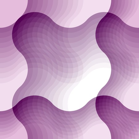 heather: Wave background. Seamless pattern with violet elements