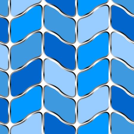 Retro blue seamless tile background on white