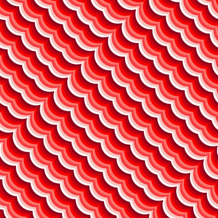 motion modern: Red wave background. Seamless pattern on white Illustration